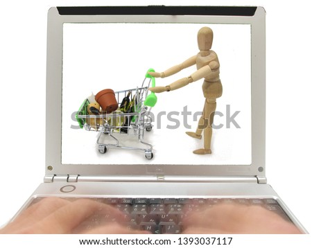 Image of shopping using a personal computer #1393037117