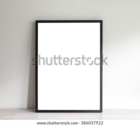 Image of simple poster frame mockup scene.