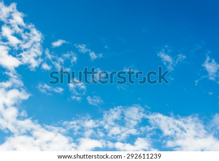 image of sky and white clouds on day time for background usage.