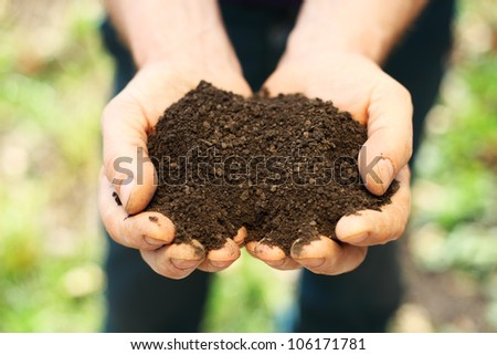 Image of soil in hands