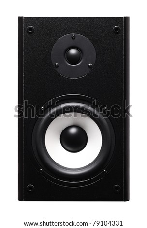 Image of speaker isolated over white background