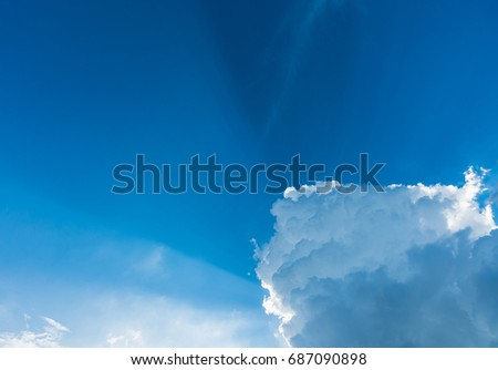 Shutterstock image of sun Crepuscular ray(beam) on the sky on day time for background usage.