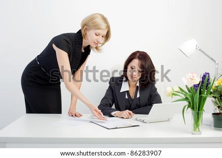 Image of teamwork in the office