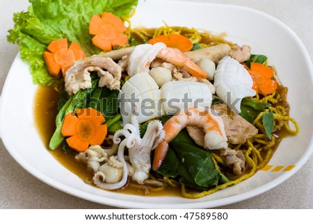 Image of Thai seafood noodle