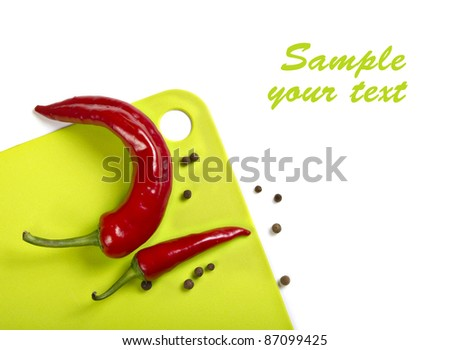 Image of the board and chilli for the background