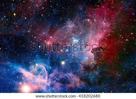 Image of the Carina Nebula in infrared light. Elements of this image furnished by NASA.