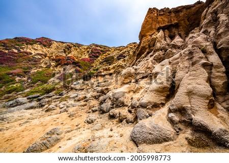 Image of the cliffs at Bodega Head in Bodega Bay Foto stock ©