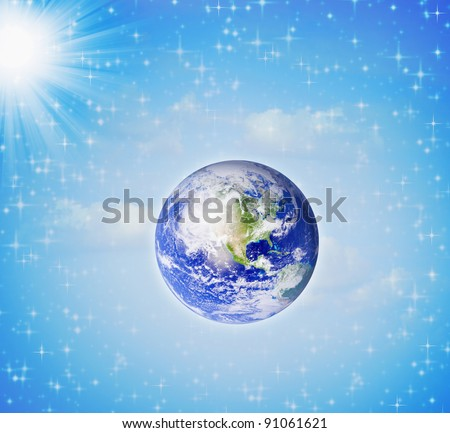 image of the earth globe on white background