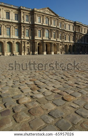 Image of the pavement in front of Louvre museum