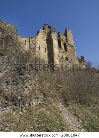 image of the ruins of the okor castle in Czech republic