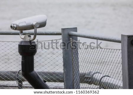 Image of tourist sightseeing binoculars in New York #1160369362