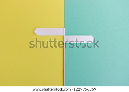 Image of two arrows pointing in opposite directions - Concept with space to add you own text #1229956369