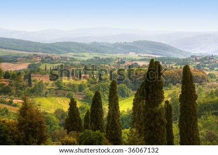 image of typical tuscan landscape, Italy