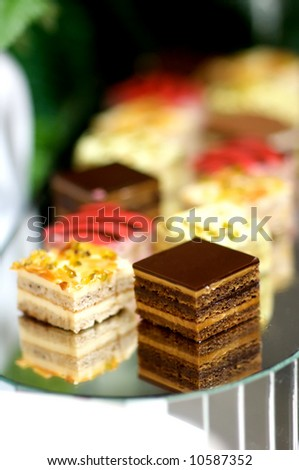 Image of various desserts on a tray