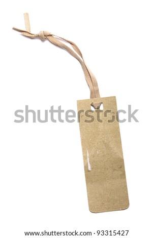 Image of vintage label on white - stock photo