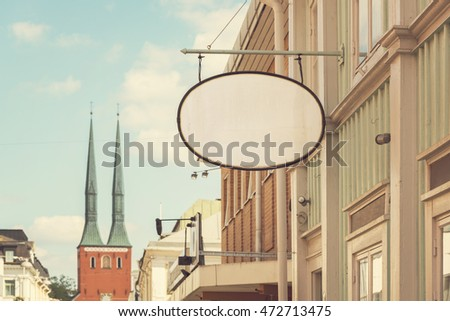 image of vintage shop sign with ...