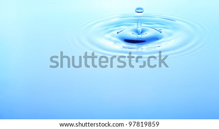 Image of water drop closeup