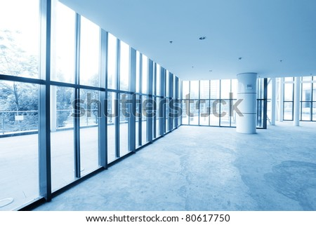 image of windows in modern office building
