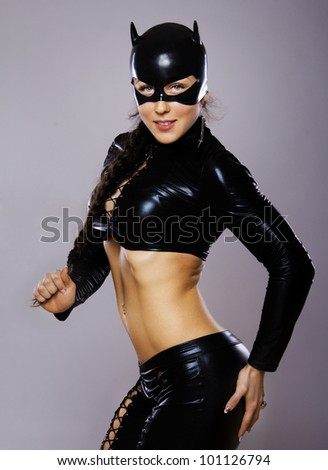 Image of woman in cat-woman costume