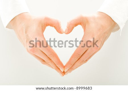 Image of woman's hands made in the form of heart