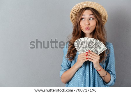 image of young funny woman...