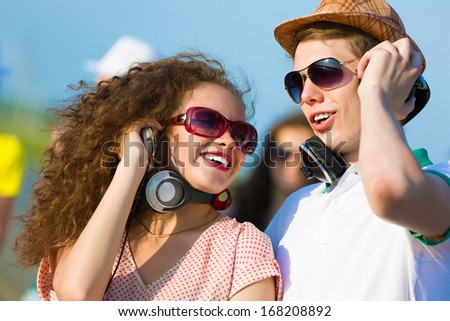 Image of young people having fun outdoors #168208892