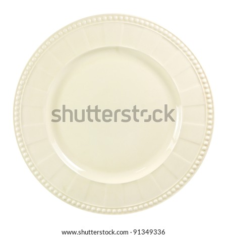 Image plate on white background