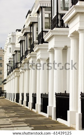 Image showing a lovely row of edwardian terraced houses in London