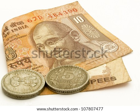 Rupee Note Vector Indian 10 Rupee Note With