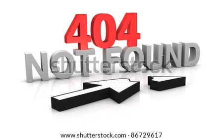 image to use on websites as 404 error page, or as concept of computer error (3d render)