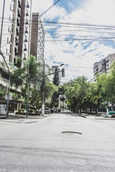 Images of the city of Niterói, Rio de Janeiro, Brazil, with the streets without people, and without traffic, because of the quarantine caused by the Coronavirus pandemic in the world. March 2020.