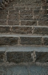 Images of the stairs which lead to the entrance of the Raigarh fort.
