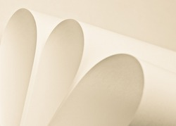 imaginative curved sheet of paper