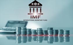 IMF. International Monetary Fund. Finance and banking concept.