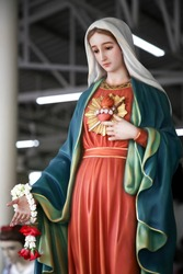 Immaculate heart of Mary Our lady catholic statue