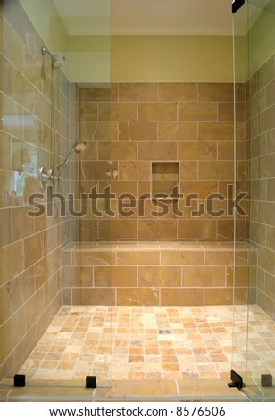 Natural Stone Showers http://www.shutterstock.com/pic-8576506/stock-photo-immense-natural-stone-shower.html