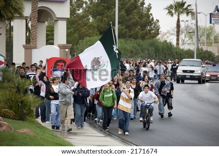Immigration Protest in Las Vegas Nevada 3/28/2006