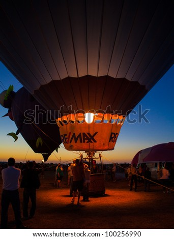 IMMOKALEE, FLORIDA - APRIL 15 -  Balloons Over Paradise festival sponsored by the Seminole Casino supports local  charities held on April 15 in Immokalee, Florida