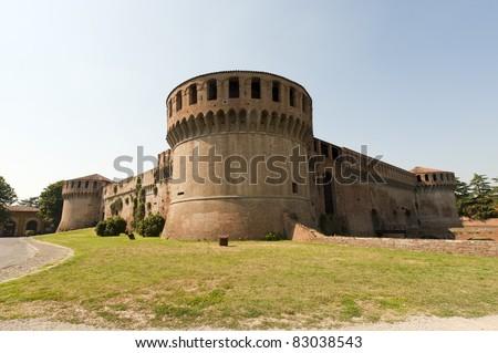 Imola (Bologna, Emilia-Romagna, Italy) - Medieval castle, Rocca Sforzesca (14th century)