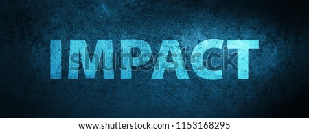 Impact isolated on special blue banner background abstract illustration