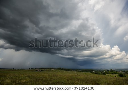 impending squall with rain,  impending hurricane,\ impending rain, approaching storm, Prairie Storm, the storm is coming, approaching storm, thunderstorm, tornado, mesocyclone, climate