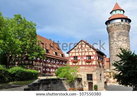 Imperial castle Kaiserburg,Nuremberg,Germany