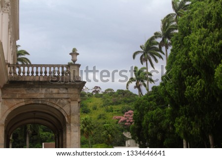 imperial museum of Petropolis. picture with framing directing a shape of a triangle