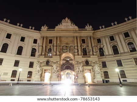 Imperial Palace at night - Vienna, Austria