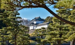 Imperial palace  in tokyo Japan landscape