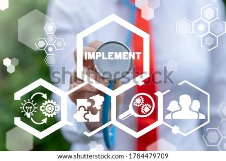 Implementation Business Concept. Idea Plan Success Implement. Сток-фото ©