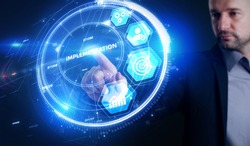 IMPLEMENTATION, web technology concept.  Business, Technology, Internet and network concept.