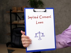 Implied Consent Laws phrase on the page.