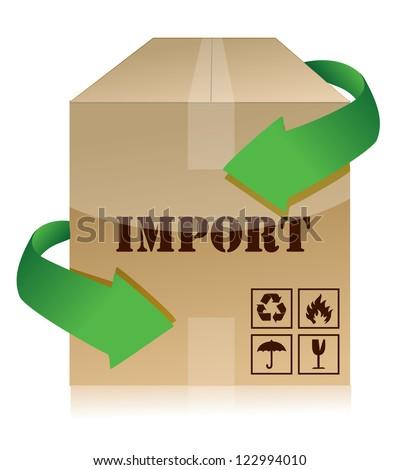 import box illustration design over a white background