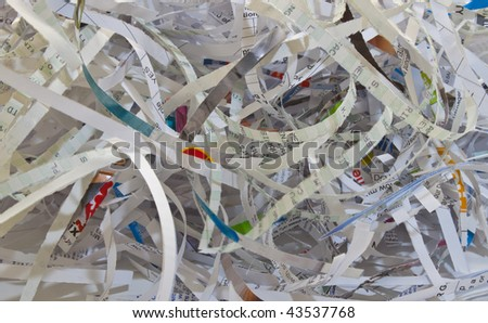 important documents shredded to prevent identity theft